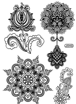 Mandala Tattoos - Lotus Flower Tattoo Mehendi / Henna inspired
