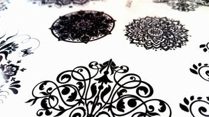 Mandala Lotus Flower Henna inspired Temporary Tattoos