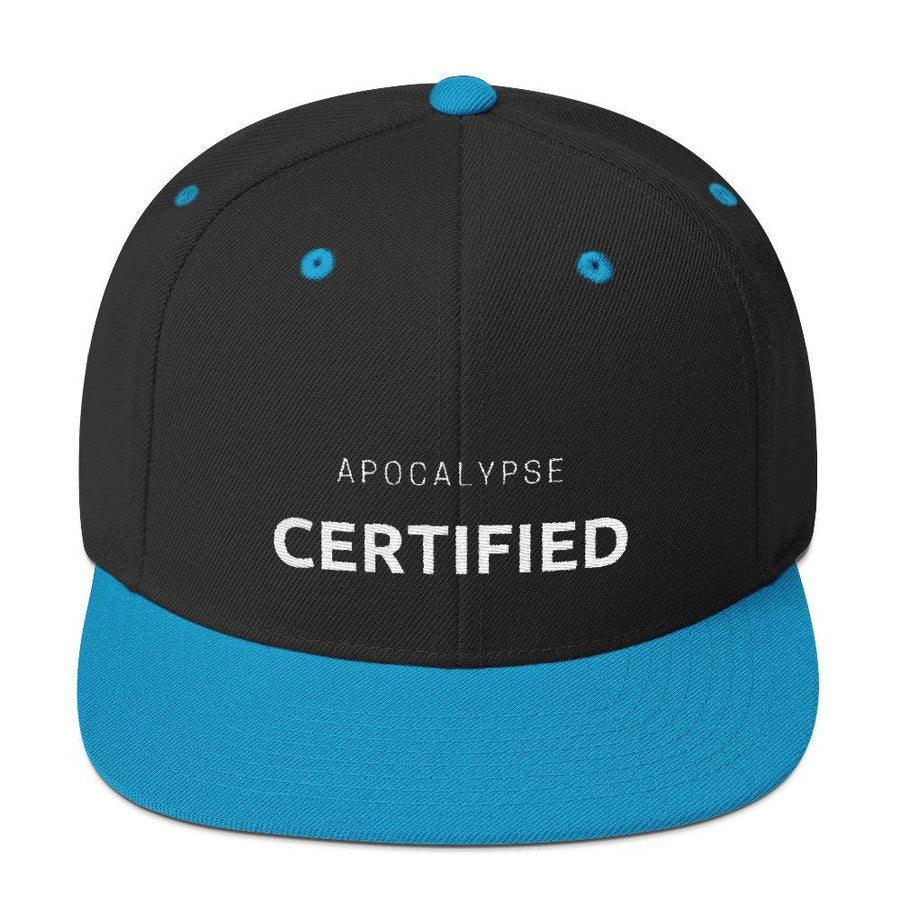 Apocalypse Certified  Hat - Dad Baseball Cap Unisex Zombie Obsessed Hat (2 Variations Back and Blue)