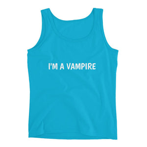 Vampire T-Shirt Sleeveless Vampire Lightweight Tank Top Gift Shirt