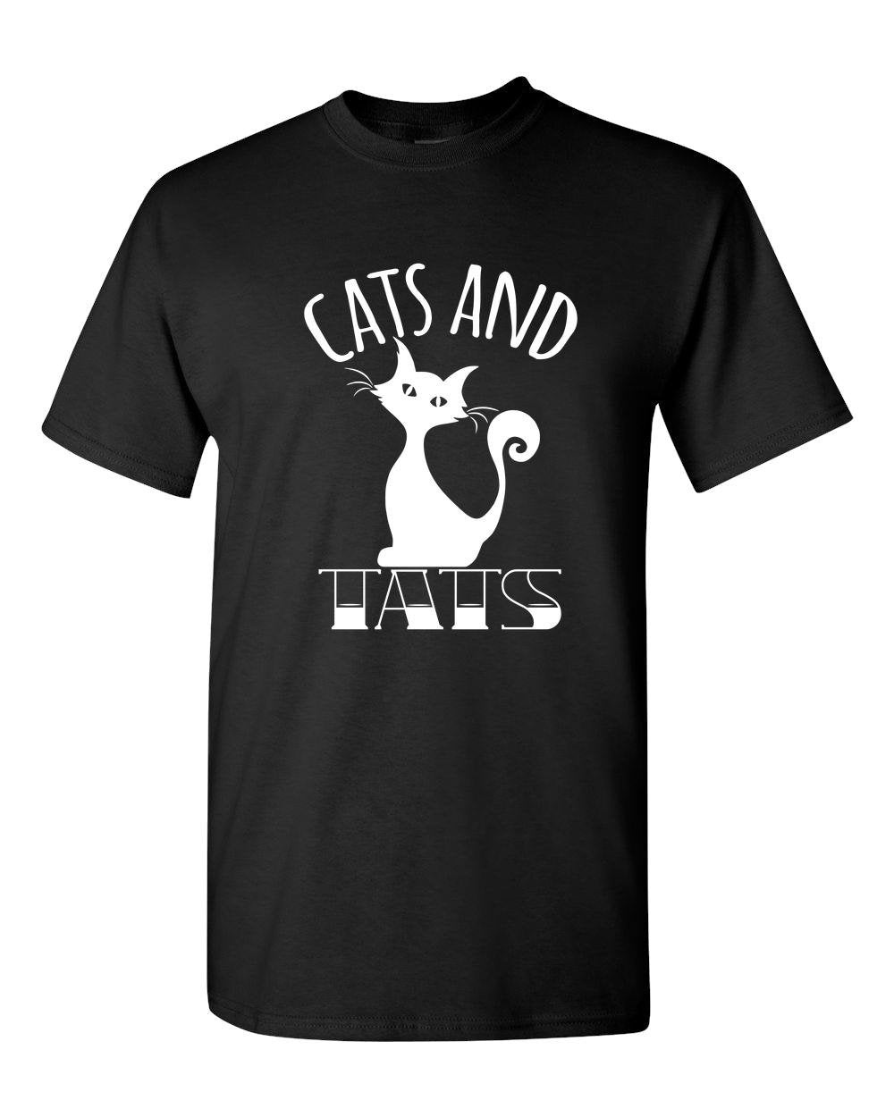 Cats And Tats Tattoo Adult Unisex T-Shirt Cat and Tattoo Lover