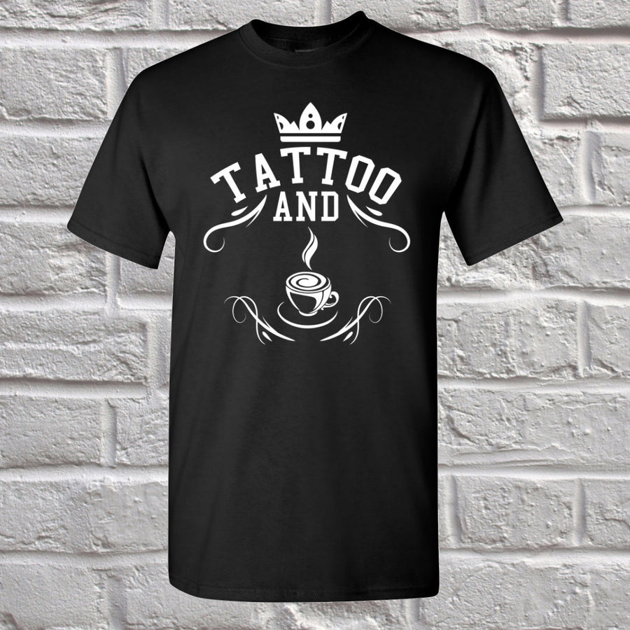 Tattoo and Coffee T-shirt  -  Short-Sleeve Unisex Shirt