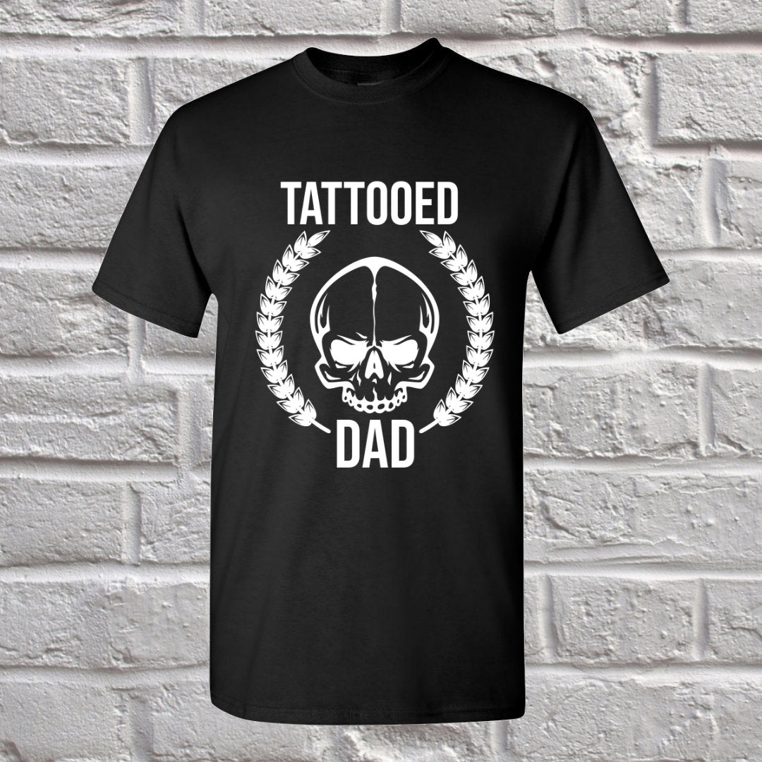 Tattooed Dad Black T-Shirt - Dad Gift - Inked Dad - Shirt for dad