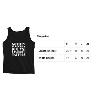 Sorry I only Like Guys With Tattoos Tank Top For Women | Women's Tank | Women's tank top