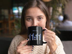 Eleven Eleven Angel Numbers  Coffee Mug - Numerology 11:11 Make a Wish! Spirit Guides