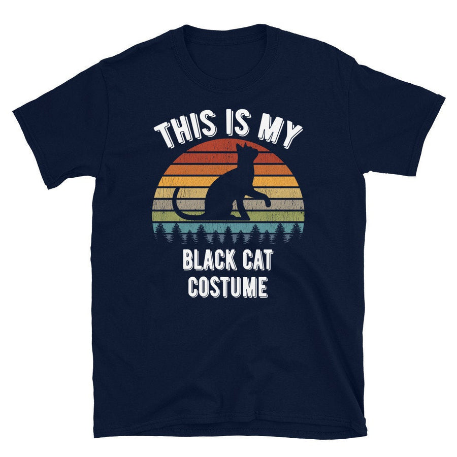 Retro Vintage This Is My Black Cat Costume Kitten Cat Lover Gift Short-Sleeve Unisex T-Shirt