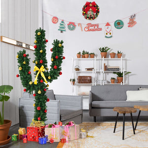 Christmas Tree with Lights and Ball 5' / 6' / 7' Artificial Cactus