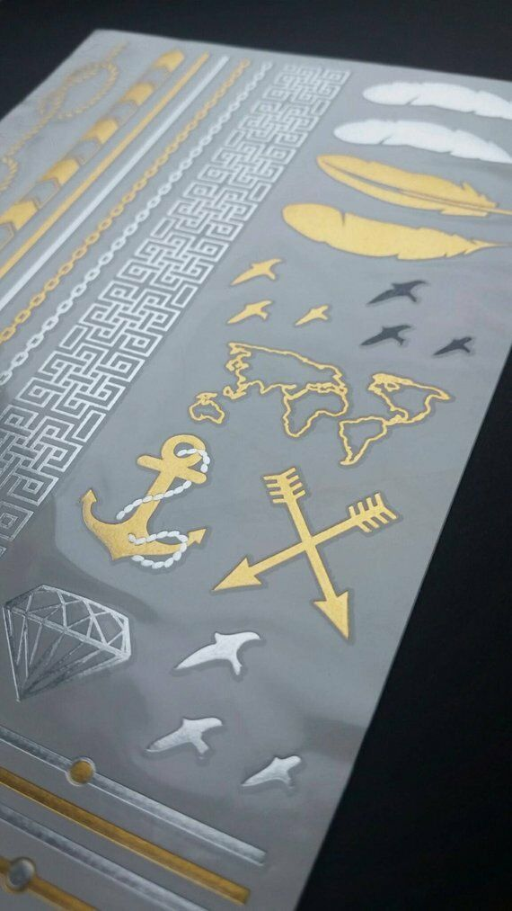 Gold/ Silver Ocean Metallic Temporary Tattoos