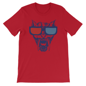Animal 3D Sunglasses Graphic T-Shirt Design Men Shirt Short-Sleeve  Cat T-Shirt - Biker T-Shirt