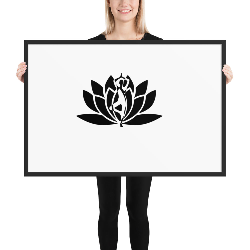 Yoga Fusion Framed photo paper poster