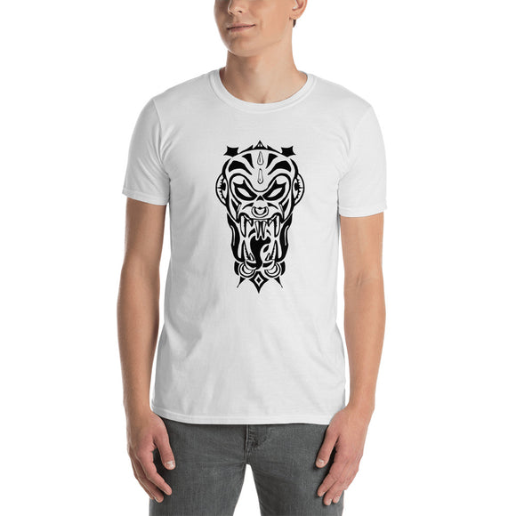 Short Sleeve Tribal Demon Men's T-shirt  Vampire Black Zombie