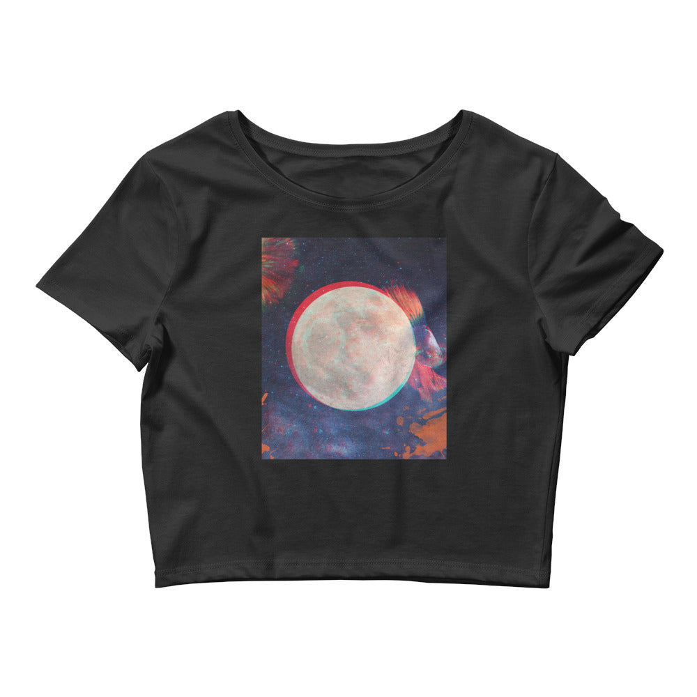 Aesthetic Crop Tee [Moon]