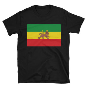 Lion of Juda Unisex T-Shirt - Rasta - Flag-of-Ethiopia