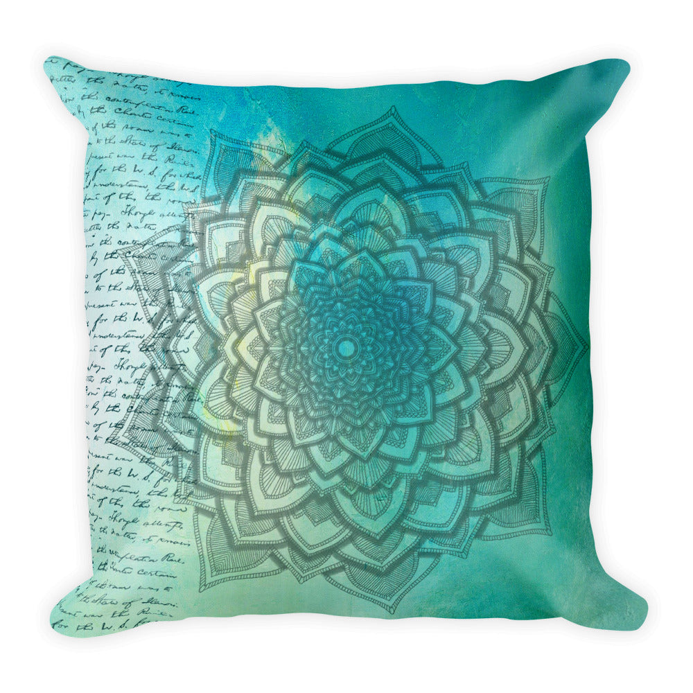 Mandala Vintage Print Basic Pillow Case w/ stuffing