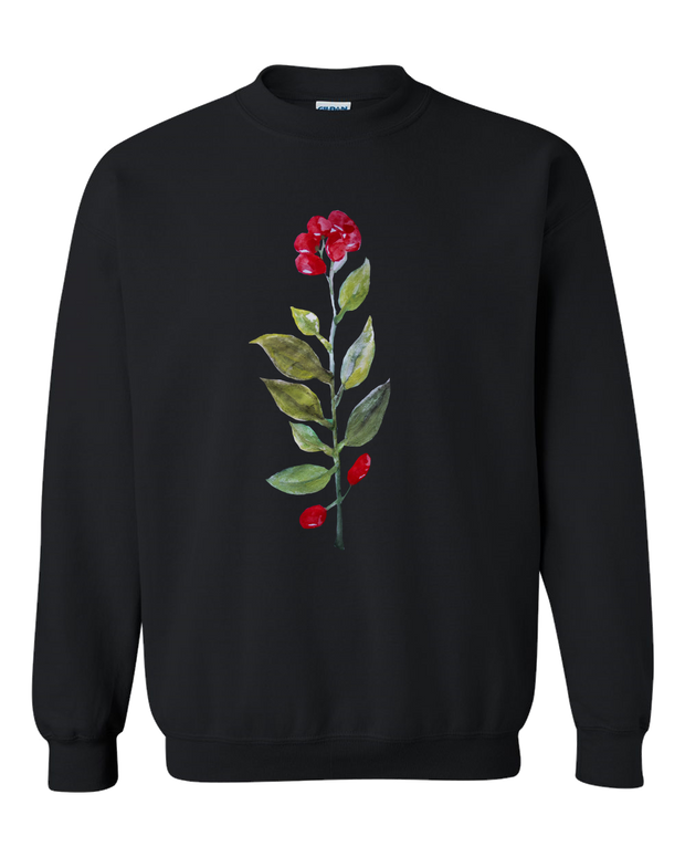Botanical Water Color Adult Crewneck Sweat Shirt