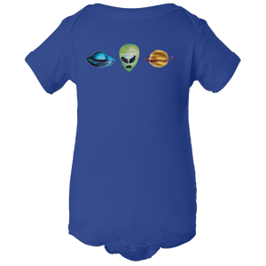 Baby Onesies -  Alien Universe Water Color  Unisex Body Suit Design - Kids' Clothing