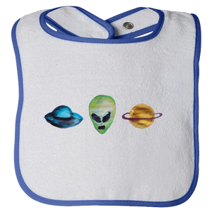 Baby Bibs Aliens Water Color Unisex Design