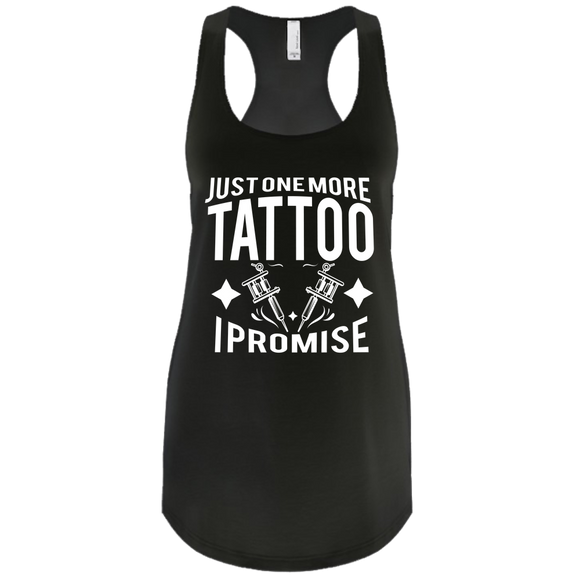 One More Tattoo I Promise tank black