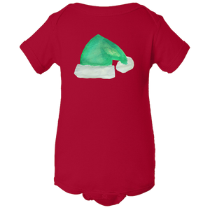 Baby Onesies -  Christmas Elf Hat Water Color  Unisex Body Suit Design - Kids' Clothing