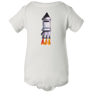 Baby Onesies -  Spaceship Water Color  Unisex Body Suit Design - Kids' Clothing