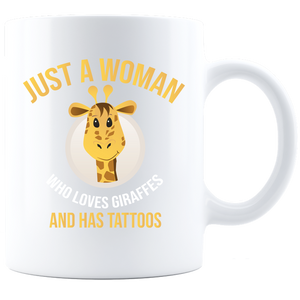 Just a Woman Coffee Mug - White Sublimated Only