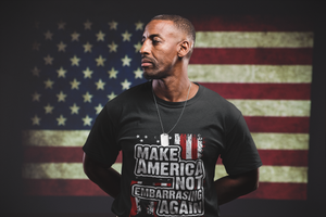 Make America Not Embarrassing Again Short-Sleeve Unisex Black T-Shirt