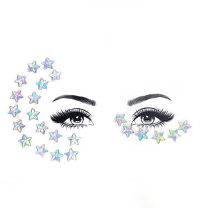 Face Crystal Jewelry Temporary Tattoo Sticker