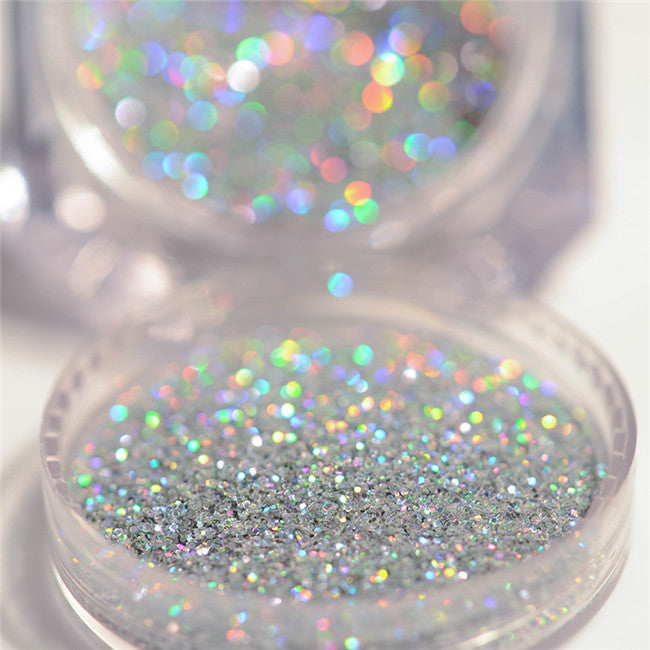 Holographic Silver Laser Nail Glitter Powder