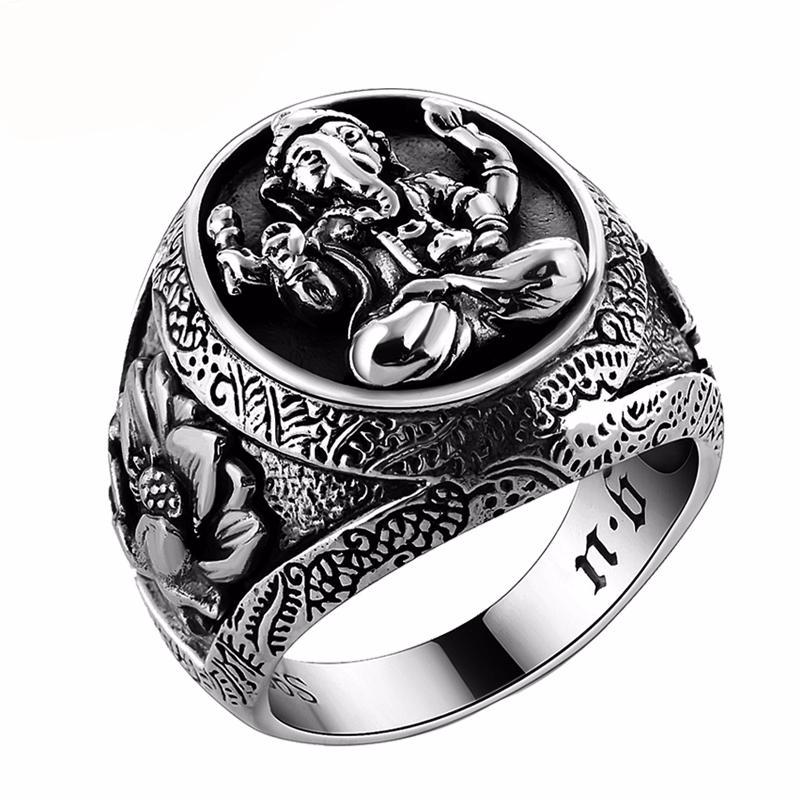 Thailand Buddha Elephant Authentic Sterling Silver Ring