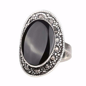 Vintage Bohemian Sterling Silver Statement Ring
