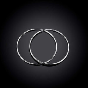 Sterling Silver  Plated Haute Hoop Earrings