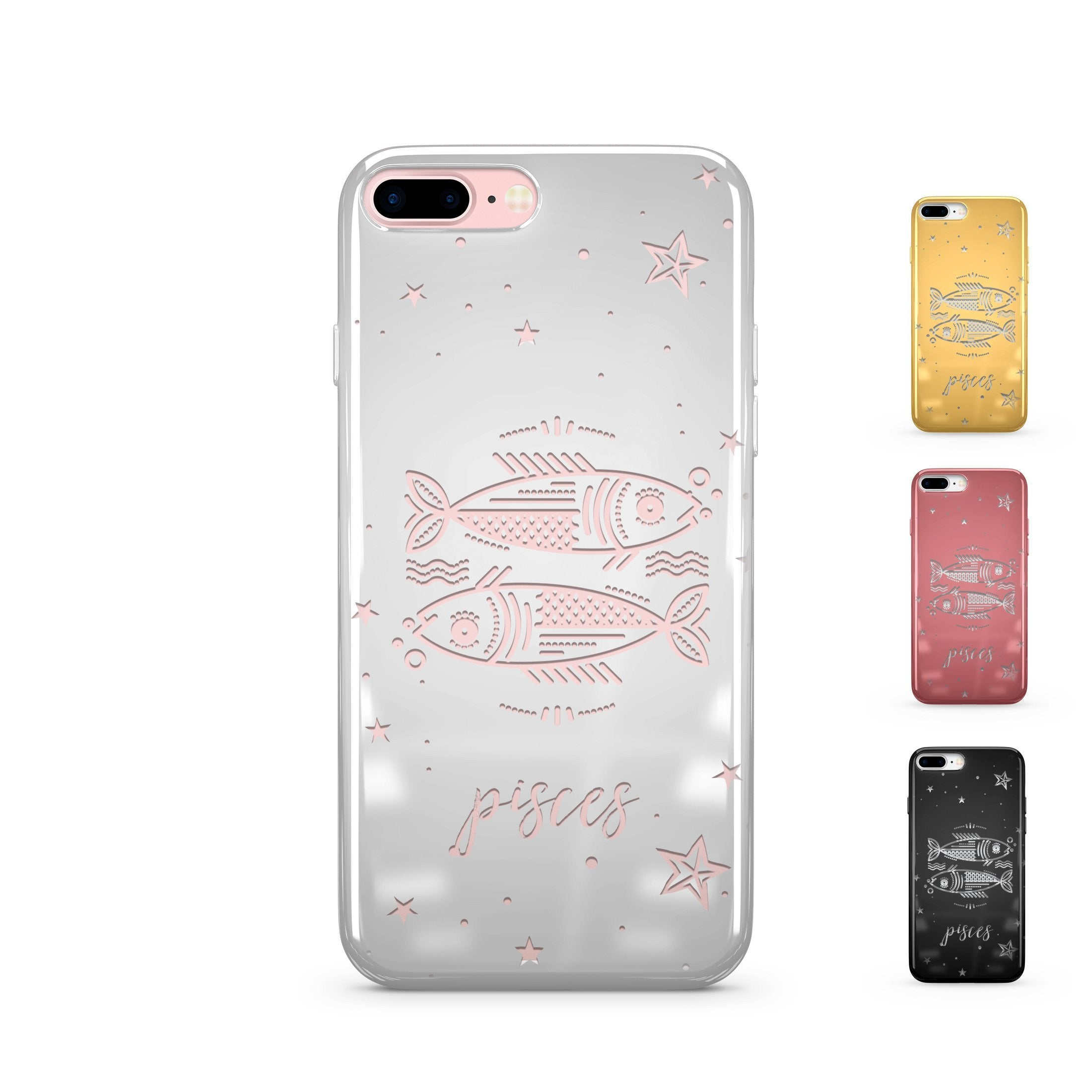 Chrome Shiny TPU iPhone Case Cover - Pisces