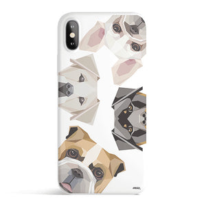 Dogs With Attitudes - Colored Candy Matte TPU iPhone Case Cover