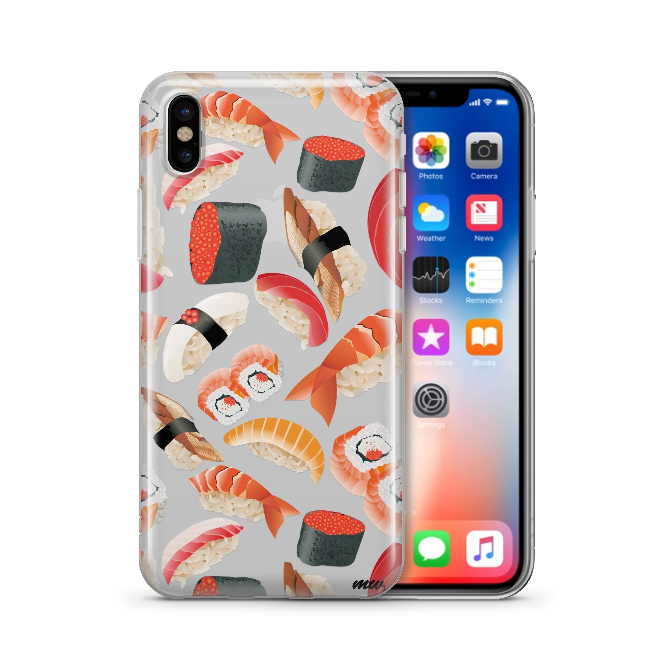Sushi Pandemonium- Clear TPU iPhone Case / Samsung Case Phone Cover