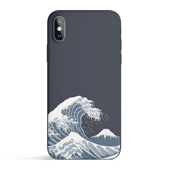 Japan Waves - Colored Candy Matte TPU iPhone Case Cover