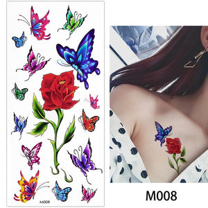 Rose/Flower Waterproof Temporary Tattoos