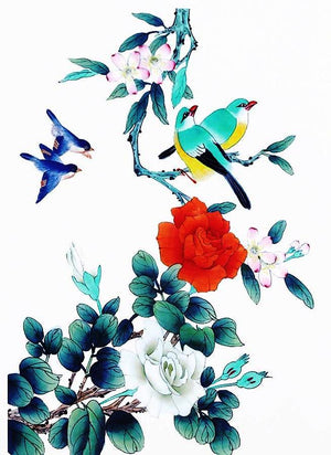 Flower/ Bird Temporary Tattoo