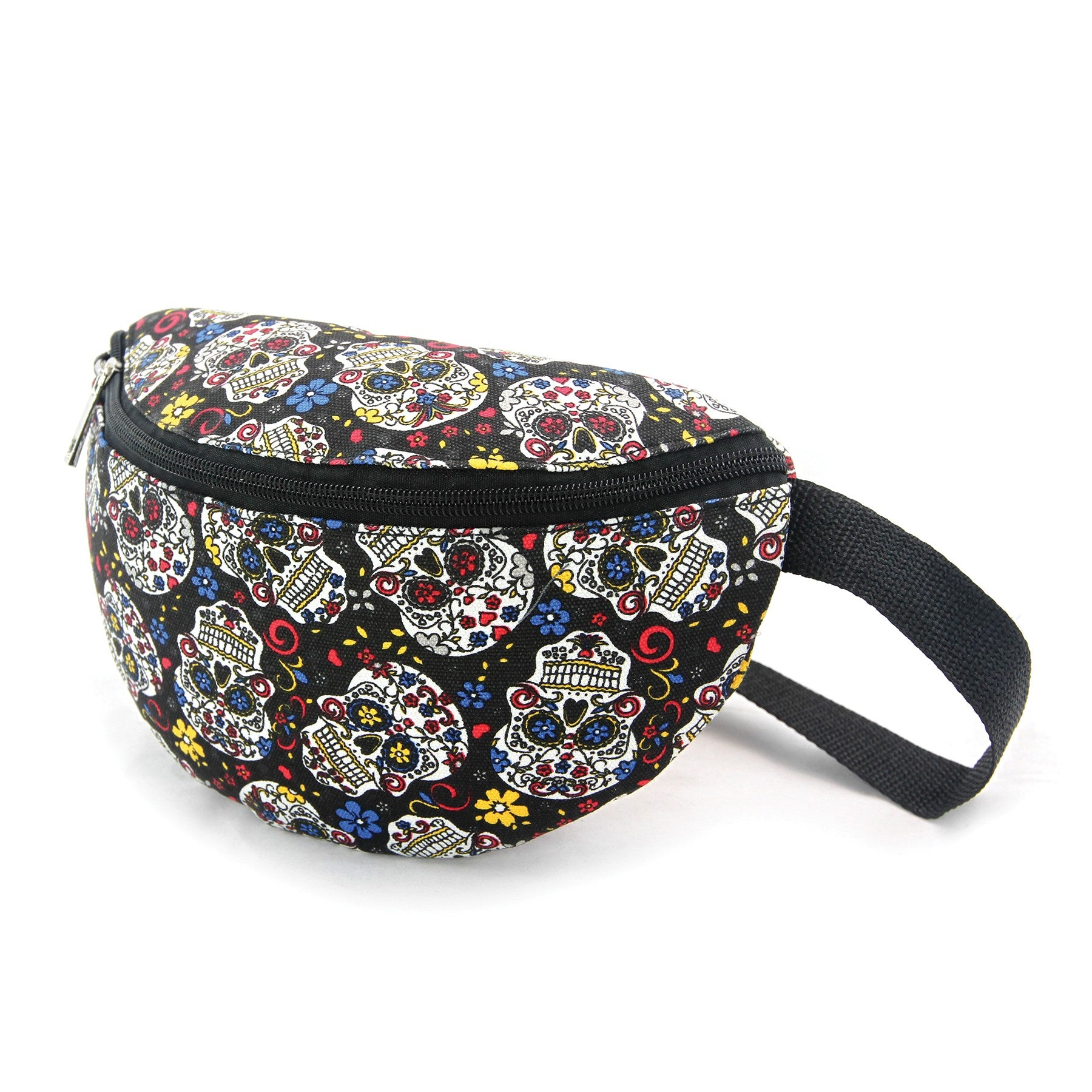 Sugar Skull Fanny Pack in Canvas Material