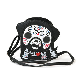 Tattooed Skeleton Dog With A Heart Shoulder Crossbody Bag