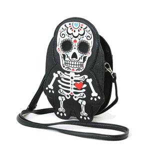 Tattooed Skeleton Man With A Heart Shoulder Crossbody Bag