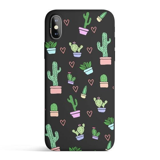 Cactus Love - Colored Candy Matte TPU iPhone Case Cover