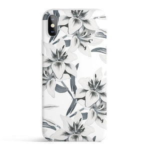 Watercolor Lilies - Colored Candy Matte TPU iPhone Case Cover