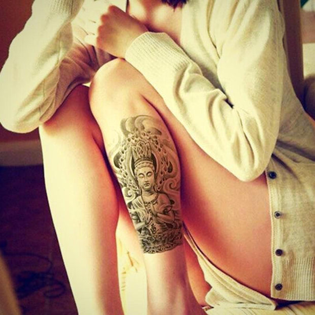 Buddha Body Art Temporary Tattoo