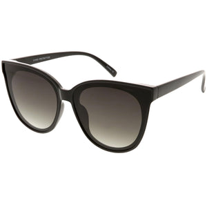 Oversize Cat Eye Sunglasses Neutral Color Flat Lens 60mm (Black / Lavender )