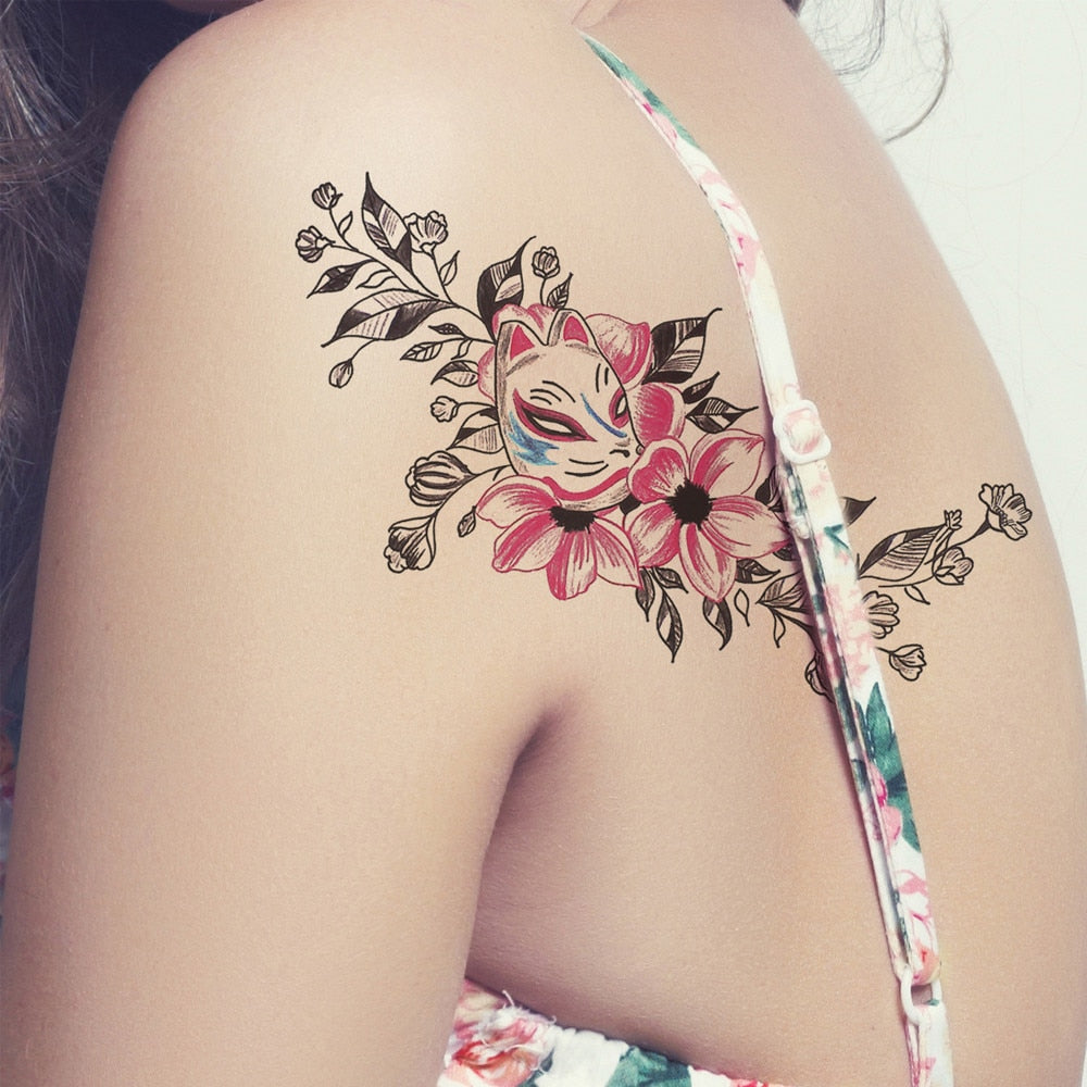 "Flower Back Temporary Tattoo ""Floral"""