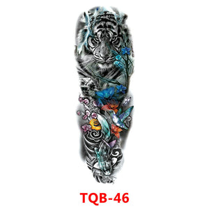 Full Arm Temporary Tattoo Sticker Waterproof Fake Sleeve Flash Tattoo Men Woman