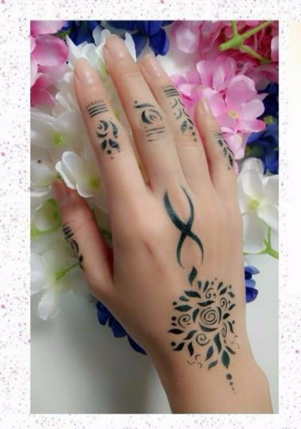 ( Lot of 10) Stencil For Henna Temporary Tattoo / Glitter / Airbrus