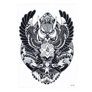 Waterproof Decal Geometry Flying Owl Arm Tattoo Design Men And Women Body Art