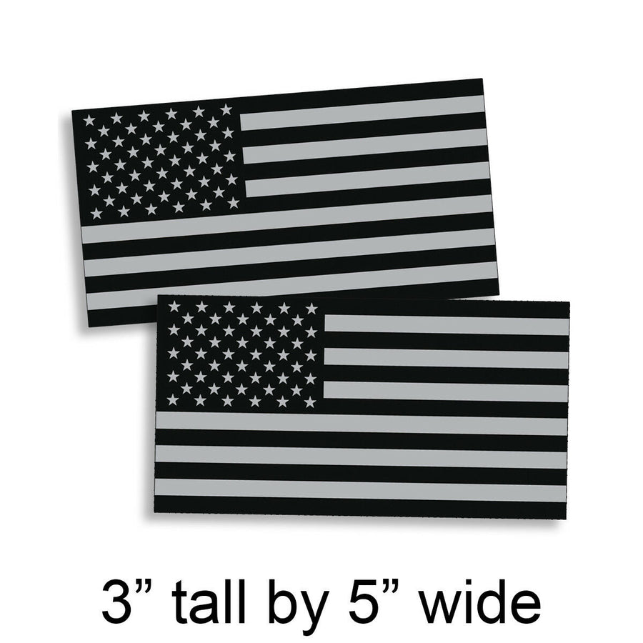 Black OPS Gray 3 x 5 American Flag Sticker Grunge Car Truck Subdued USA Decal US