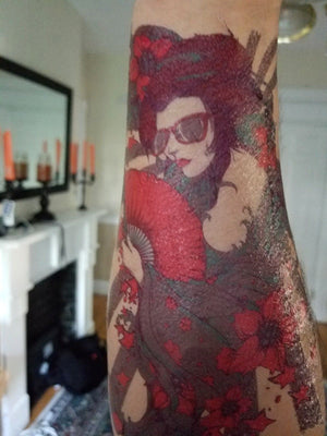 Large Temporary Tattoo - Vintage Tattoo - Waterproof Arm Girl Tattoo Sleeve